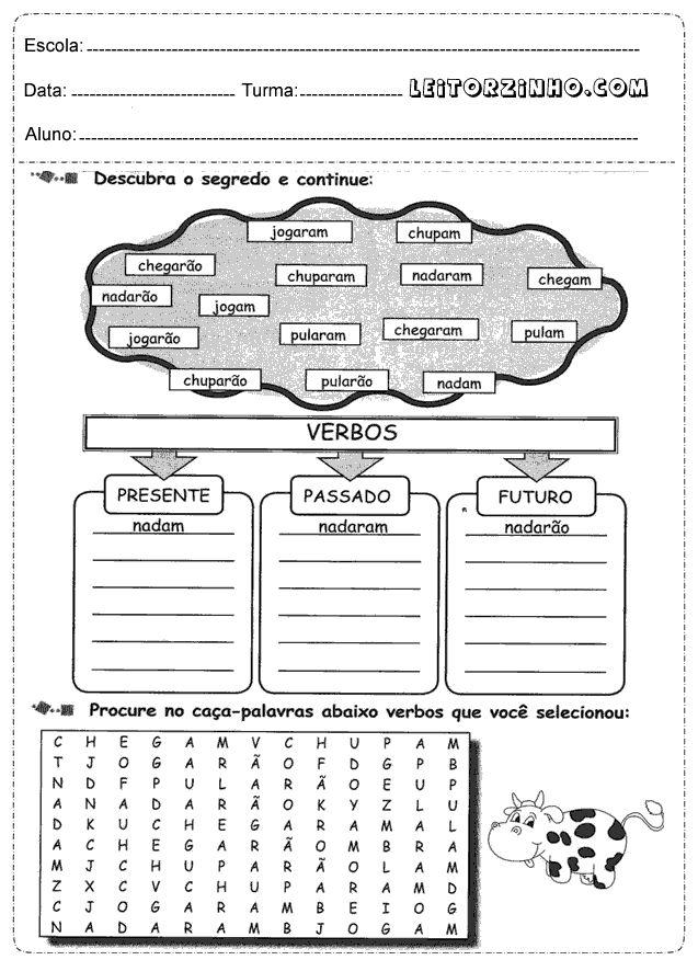 Atividades+portugues+4%C2%B0+ano+verbos.png (637×876)