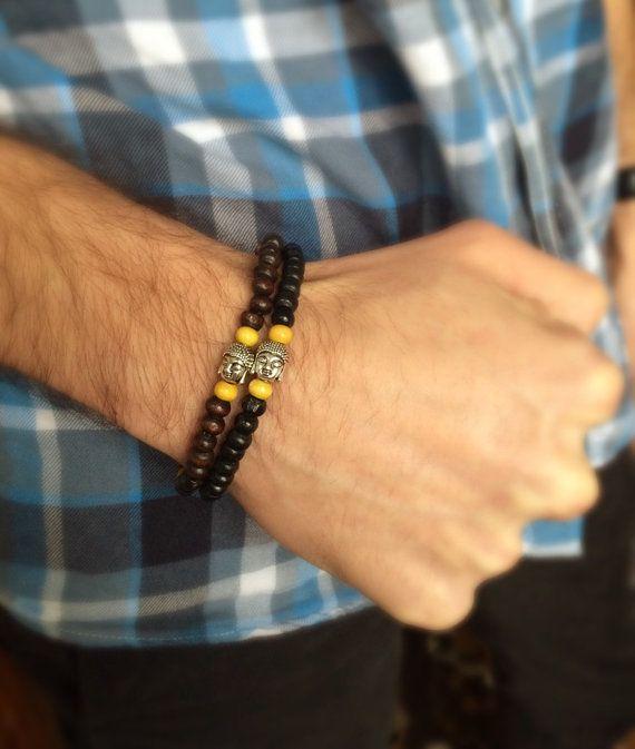 Men Buddha Bracelet For Him Bracelet Spiritual by DanusHandmade