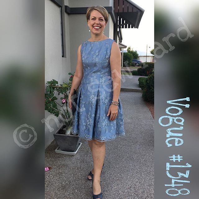 This week I had a dinner to attend, sew I made myself a new dress. My pattern choice was Vogue 1348. Adding the lace overlay required more thought, as I wanted it to be seperate to the under fabric in the skirt, I am very pleased with the end result. #vogue1348 #sewhappy #ilovesewing #notsewhard