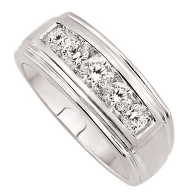14K White Gold Men's Diamond Wedding Band.    http://www.thediamondstore.com/products/men's-wedding-rings/14k-white-gold-mens-diamond-wedding-band-%7C-ash38603/7-752