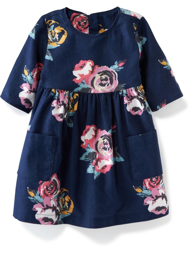 Double-Pocket Twill Dress for Baby   Old Navy