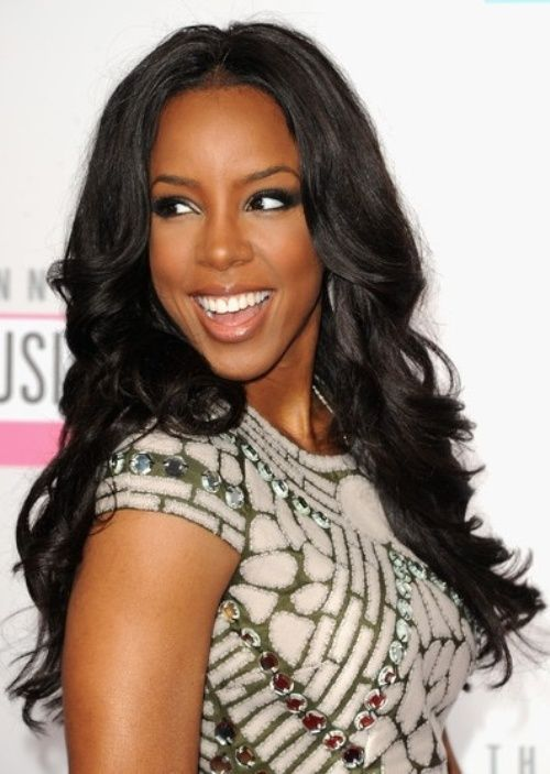 Kelly Rowland - Weave Hairstyle: Chic Work Hairstyles for Black Women