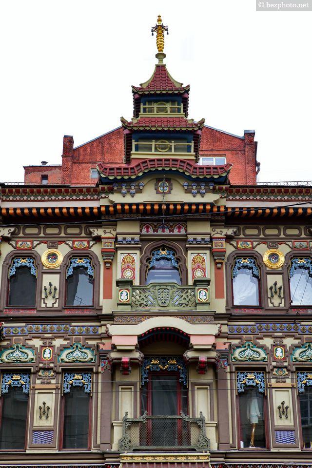 Архитектура старой Москвы. Чайный дом на Мясницкой
