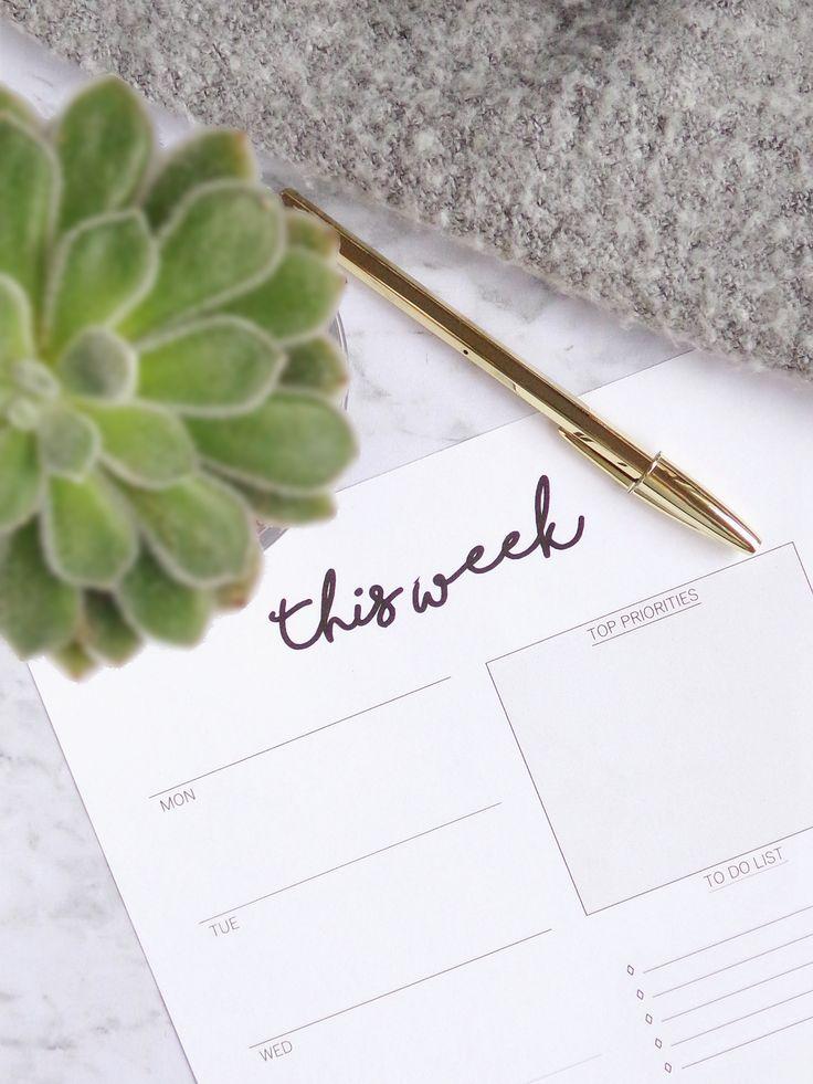 How To Plan Your Week: 7 Simple Steps + Free Weekly Planner - Tea & Curls