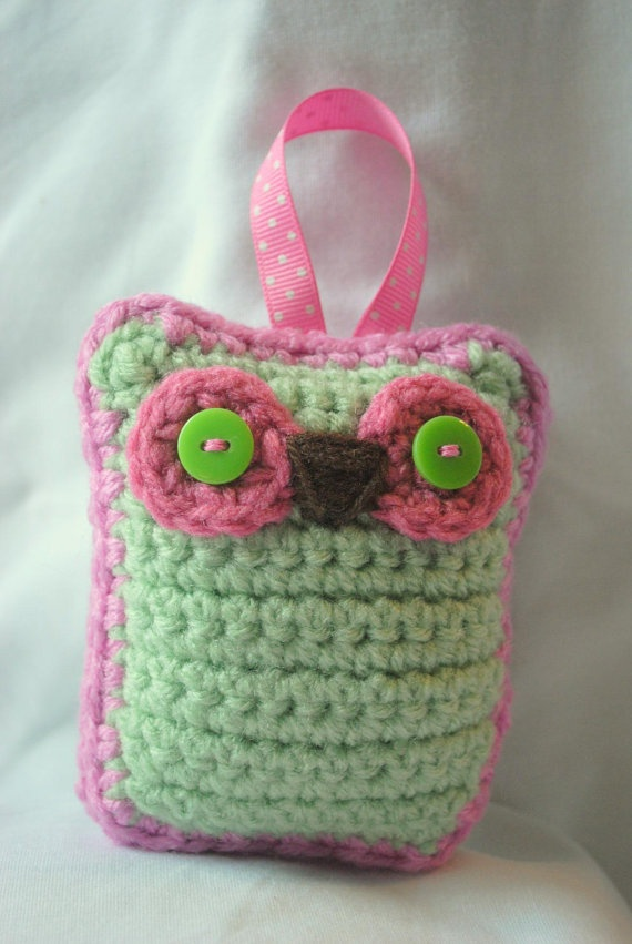 Crochet Owl Sachet...no pattern...just idea...........