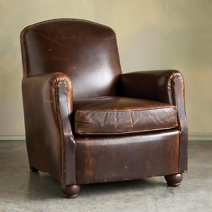 Distressed Leather Chair H O M E S W E E T H O M E