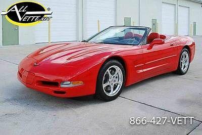 2004 Corvette Convertible C5 RED/RED 1SB Head Up 29K MLS Auto G92 Carfax Cert