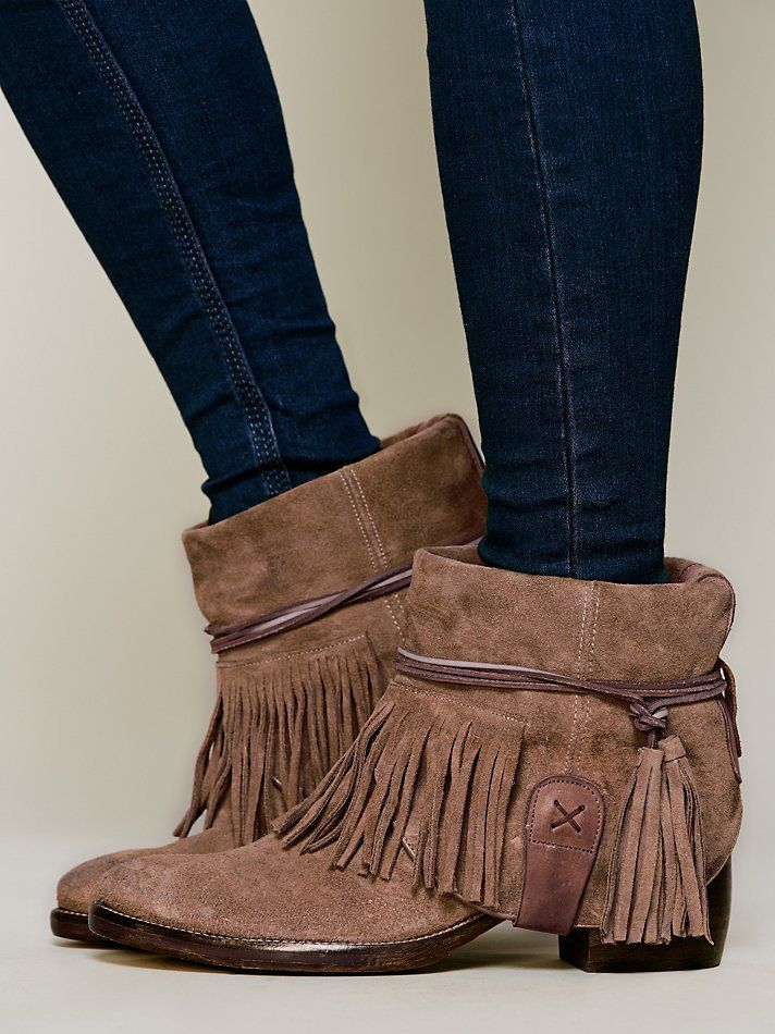 Free People Lonesome Fringe Ankle Boot at Free People Clothing Boutique