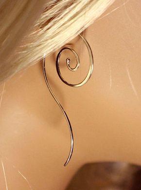 Sterling Silber Spiral Ohrringe mit Silber von MountainMetalcraft
