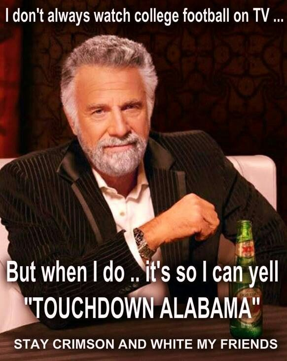 "And you know you just yelled in your mind ""Touchdown Alabama"" in your best Eli Gold voice! :-)"