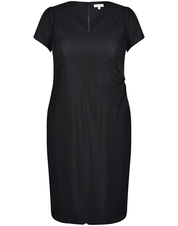 Side Pleat Mid Dress