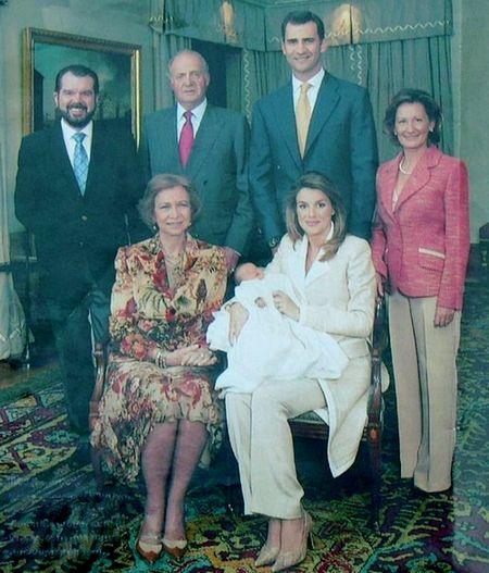 Foto do batizado de Leonor, a atual Princesa das Asturias.