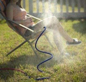 Flexible Cooling Misting Hose - http://www.gadgets-magazine.com/flexible-cooling-misting-hose/