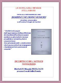 BAMBINI CHE FANNO RUMORE: Presentazione del libro Bambini Che Fanno Rumore a...