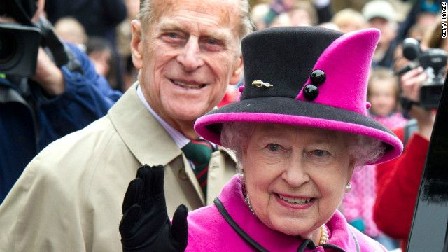 Queen Elizabeth and Prince Phillip ---always together.