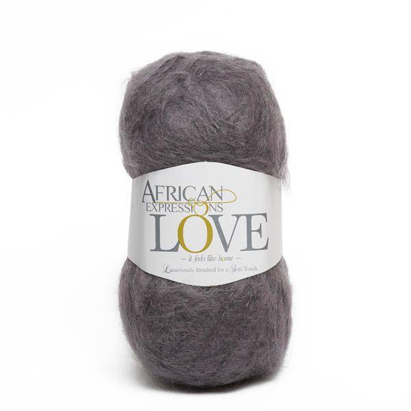 Colour Love Dark grey, Chunky weight,  African expressions 3062, knitting yarn, knitting wool, crochet yarn, kid mohair yarn, merino wool, natural fibres yarn.