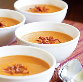 butternut squash soup with apple and bacon!