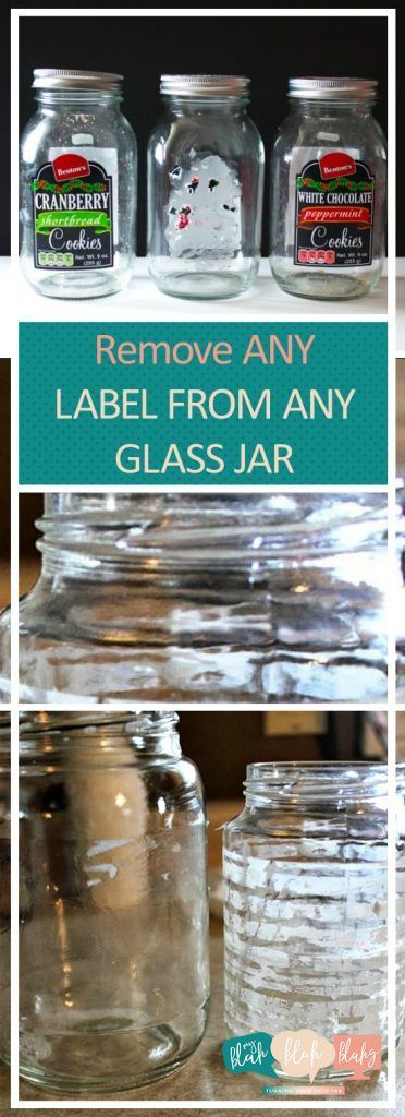 Remove ANY Label from ANY Glass Jar| Glass Jar Crafts, DIY Glass Jar, Remove Glass Jar Labels, How to Remove Labels, Mason Jar Crafts, Repurpose Projects, Easy Repurpose Projects #MasonJar #GlassJar #DIY