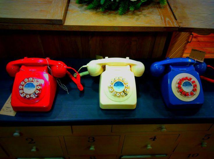 Retro phones!  Huttons at Home   77 Peascod Street                                                                                       Windsor                                  Berkshire                                SL4 1DH                                  01753 856128                            Mon-Sat:9:00-6:00                    Sunday:11:00-5:00