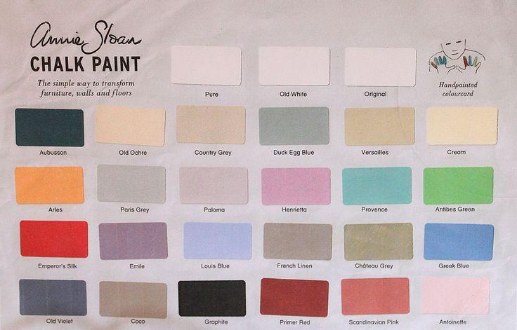 A hand-painted Chalk Paint® decorative paint by Annie Sloan Colour Card