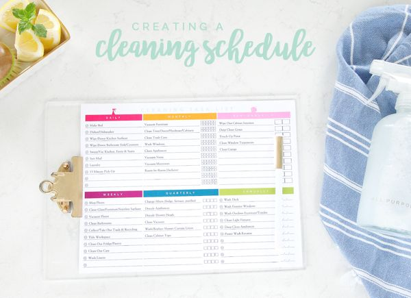 It has been a few years since I have popped in to share our current cleaning process and schedule. Just like our home has evolved as our family has changed and grown over the years, our cleaning tasks