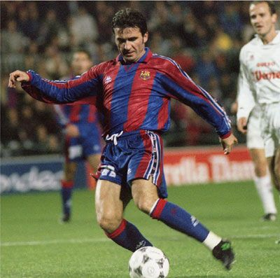 Hagi - One of the few footballers to have played for both the Spanish rival clubs Real Madrid and Barcelona. Barca: 1994-1996