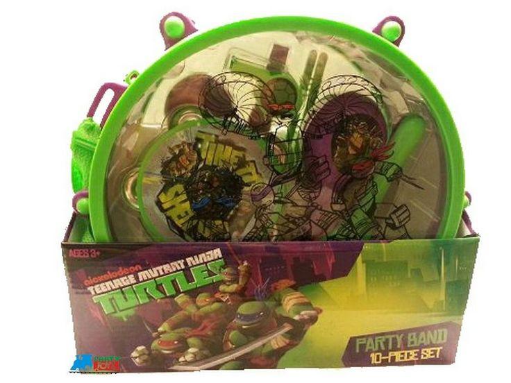 Nickelodeon Ninja Turtles Bundle: 10 pc. Party Band Set, Cup, Key Chain and Ball #Nickelodeon