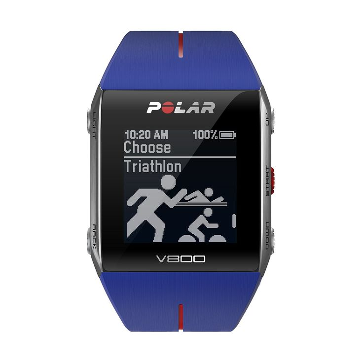 Polar V800 GPS Sports Watch with Heart Rate Monitor, Black   V800 helps you…