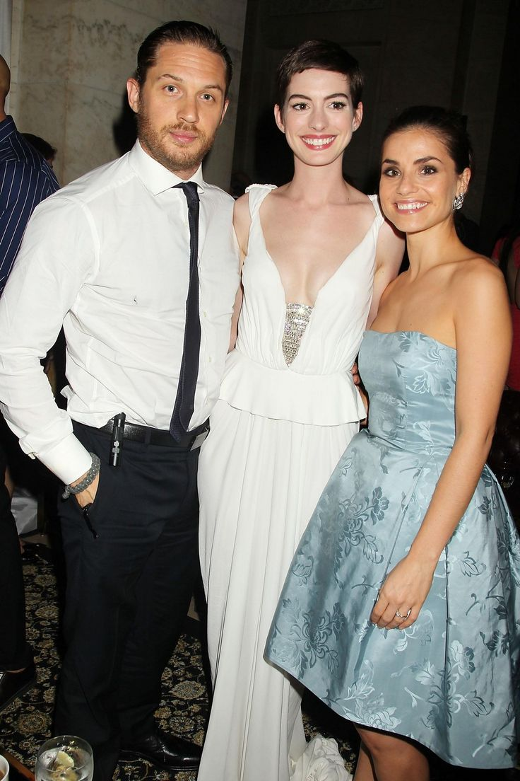 Tom Hardy & Charlotte Riley & Anne Hathaway attends The Dark Knight Rises Premiere at AMC Lincoln Square Theater on July 16, 2012, in New York (Afterparty) / TH0108 (TH0088F)