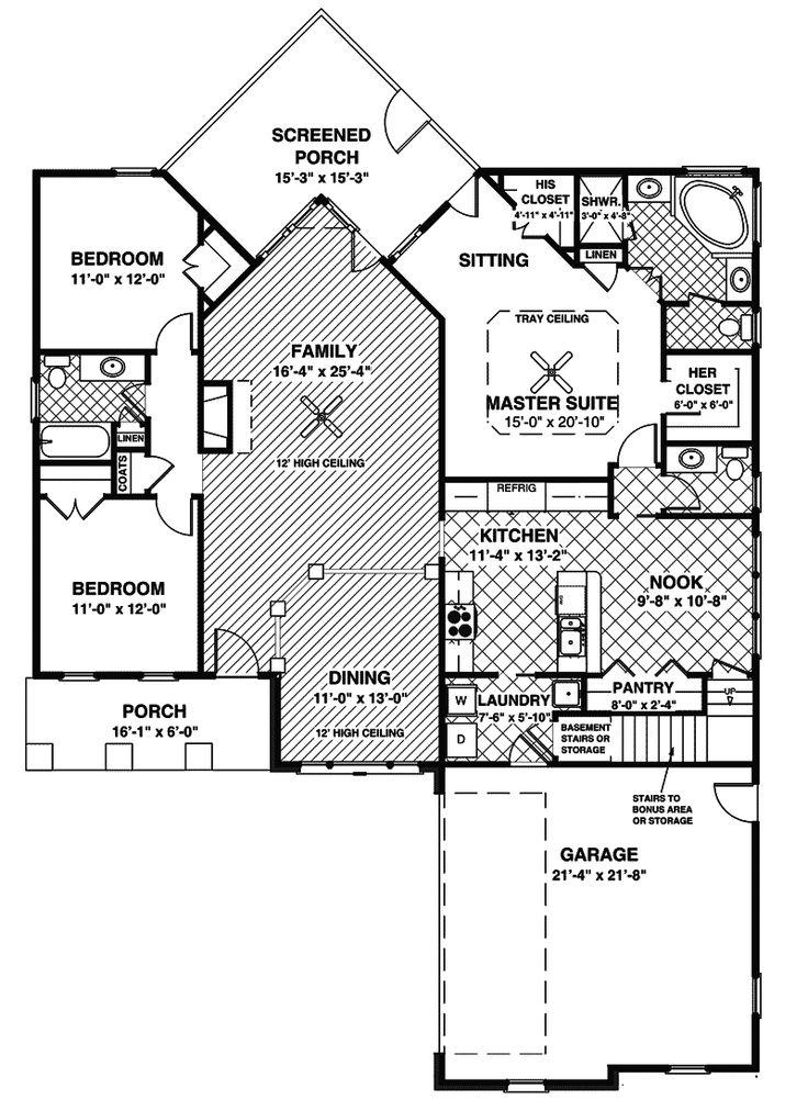 Cadley rustic ranch home house plans cottages and craftsman for Rustic ranch house plans