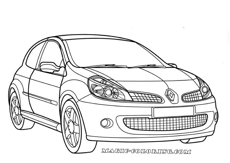Renault Clio Sport coloring page Don`t Forget to visit our