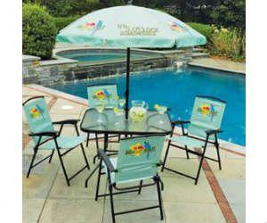 Win A Margaritaville 6 Piece Folding Patio Set With Umbrella    Http://freebiefresh