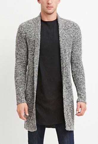 Shawl Collar Marled Cardigan | 21 MEN - 2000156960