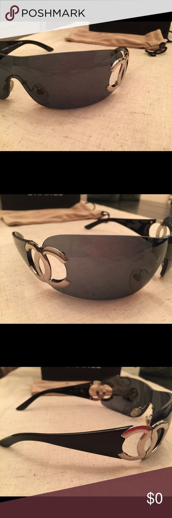 Authentic CHANEL Sunglasses Black with Silver CC NOT FOR SALE: ADDITIONAL PHOTOS CHANEL Accessories Glasses