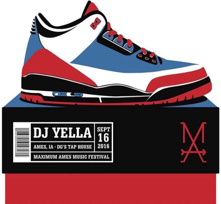 DJ Yella - NWA - Gig poster, Ames, IA