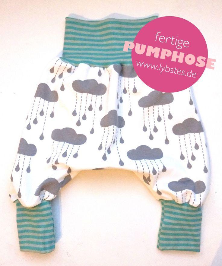 Lybstes.de: Baby-Pumphose - kostenloses Schnittmuster, Freebie, fertig genähte Haremshose