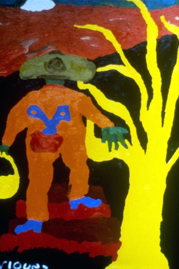 Sabía que el Jardinero Buscaba la Paz by Cristina Rodriguez, 1986. Oil on linen, 90 x 60 cm. Private collection. San Salvador, El Salvador, Central America. #painting #oilpainting #finearts #contemporaryart #cristinarodriguez