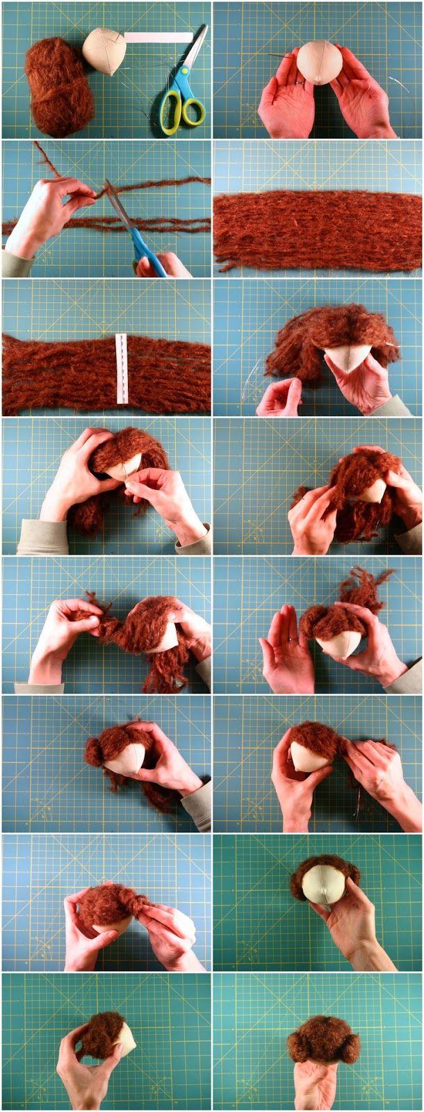 Como colocar cabelo em boneca