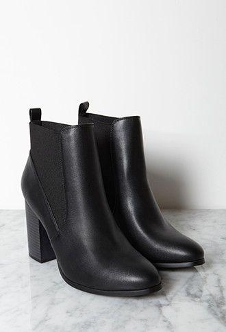 Stacked Heel Chelsea Boots