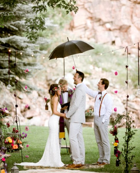 Laugh It Off - Picture Proof That Rain Won't Ruin Your Wedding - Photos