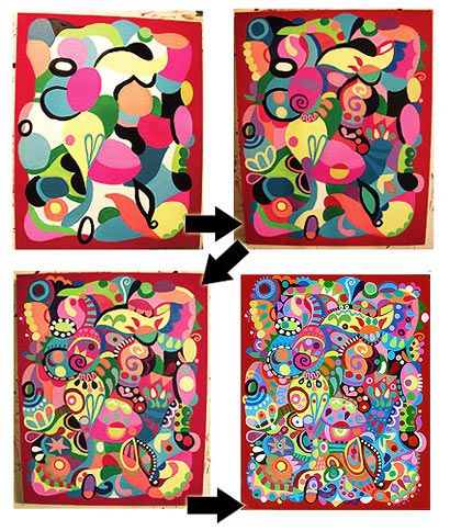 Great step-by-step info about creating some colorful, abstract art.