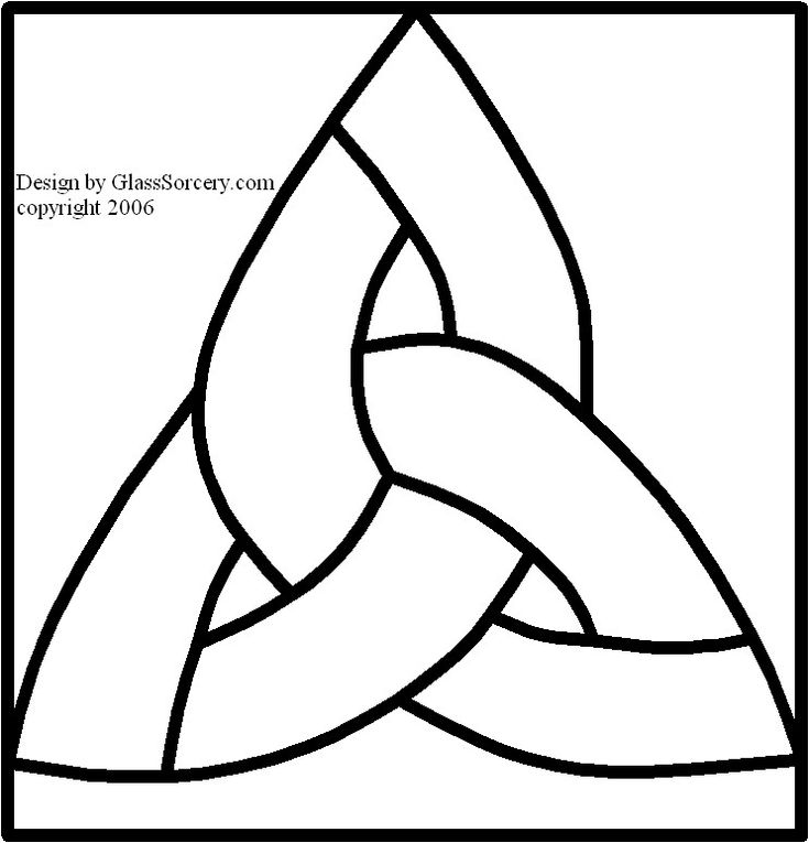 B Stained Glass Pattern Simple Celtic Knot