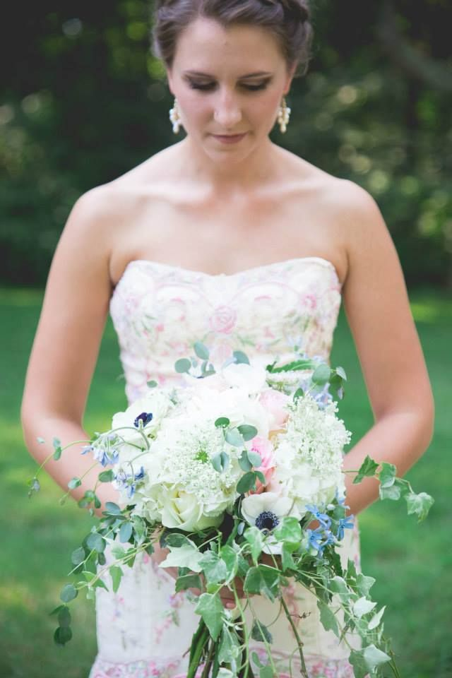 Zach + Gracie | bridal bouquet by @AuroraFloraOH | Photo by Inphinite Phototography https://www.facebook.com/inphinitephotography/?fref=ts