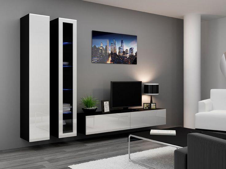 VIGO 3 Meblościanka Na Wysoki Połysk. Modern Wall UnitsTv Wall UnitsTv UnitLounge  DesignLiving Room ...