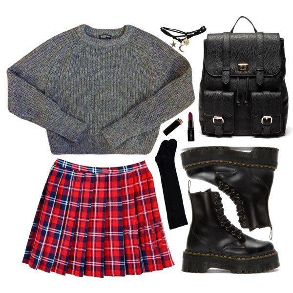 autumn, school, and black image