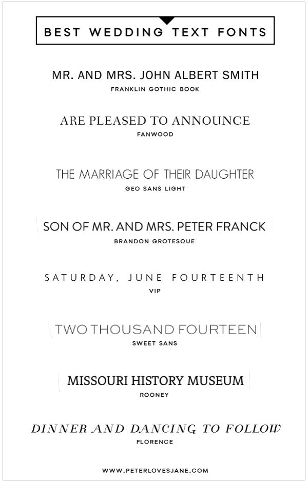 Fonts Wedding Invitations