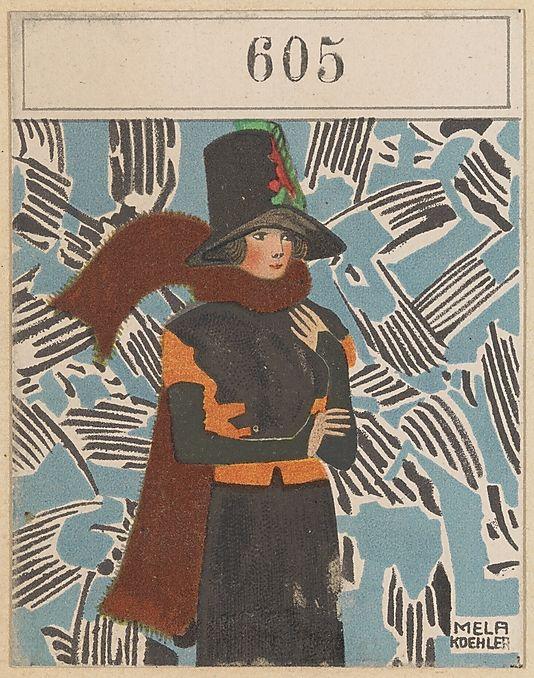 Modern Designs (Modeentwürfe). Mela Koehler (Austrian, Vienna 1885–1960 Stockholm). Published by Wiener Werkstätte Date: ca. 1907/8–14. Medium: Color lithograph