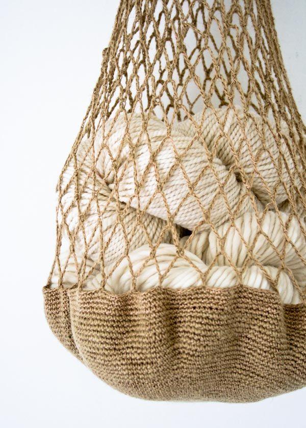 Linen Market Bag from Purl Bee - free pattern! #free #pattern #crochet