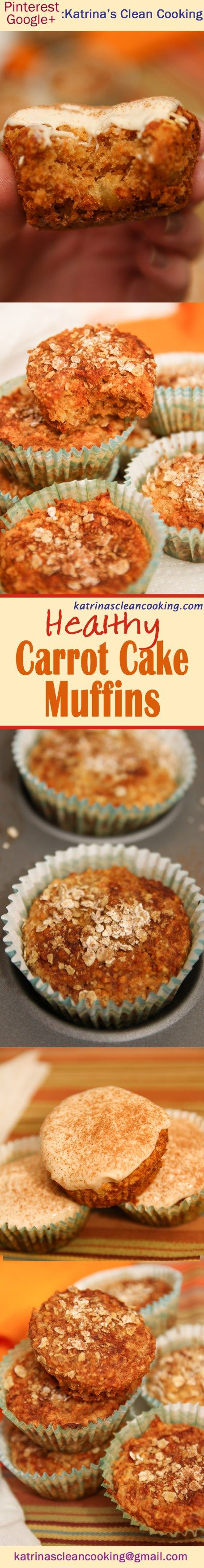 Healthy Carrot Muffins with cream cheese frosting #healthy #carrot cake #healthy…