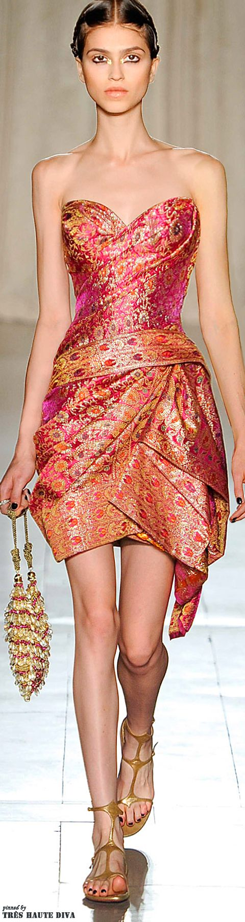 Marchesa Spring/Summer 2013 - SARI Inspired Dress -- Impressively Fashion Forward